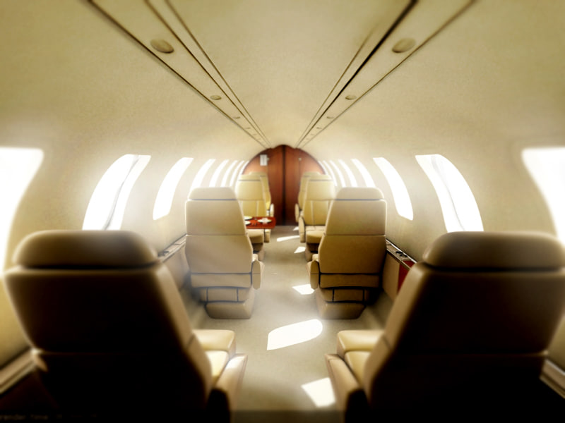 private interior airplane 3d model