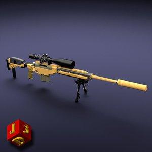 3d 50bmg tac-50 sniper rifle
