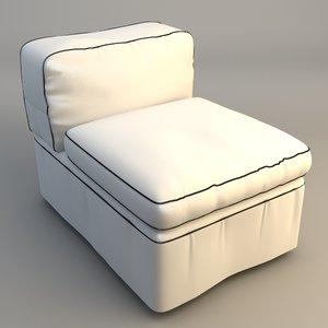 maya armless upholstered chair