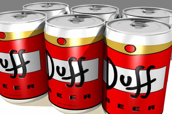 free 3ds model simpsons duff beer -