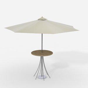 umbrella table 3d 3ds
