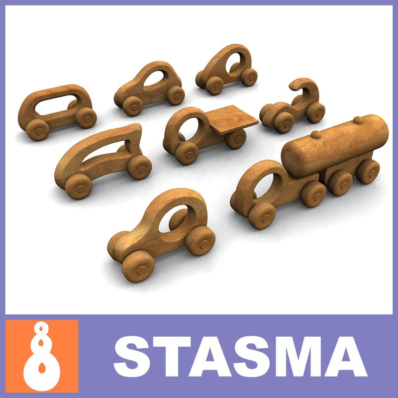 8 wooden 3d max
