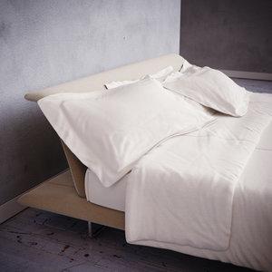 3d model bed realistic