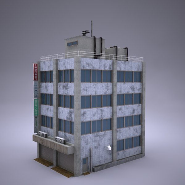 3d building 18 model