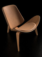 3d wood chair hans wegner