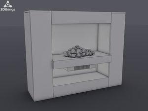 3d cubic electric fireplace