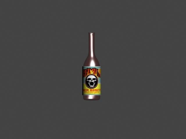 hotsauce bottle 3d max