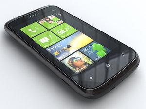 htc mozart mobile phone 3d model