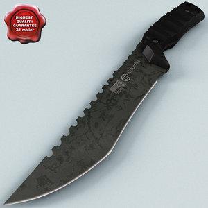 3d model knife columbia v3