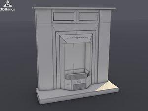 3d model mayfair electric fireplace