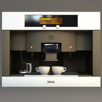 3d miele coffee machine model
