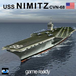 uss nimitz aircraft carrier 3ds