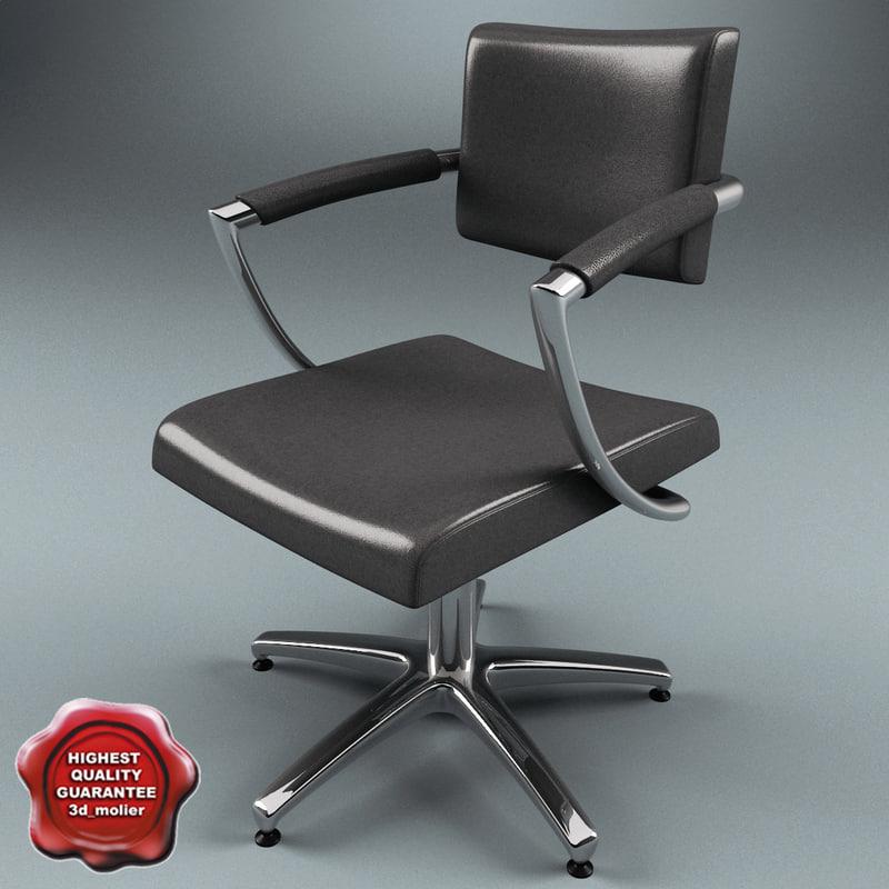 3d model salon chair