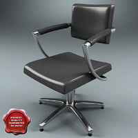 3d model salon chair