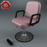 salon chair v2 3d model