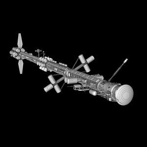 3d mars concept ship model