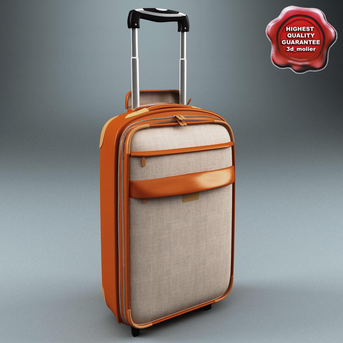 3d wheeled travel bag v2 model