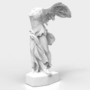 sculpture winged victory 3d model
