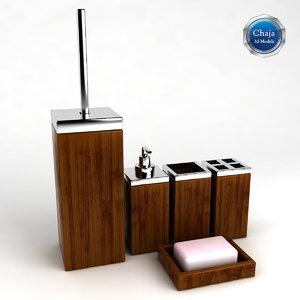 3d model bathroom accessories bath