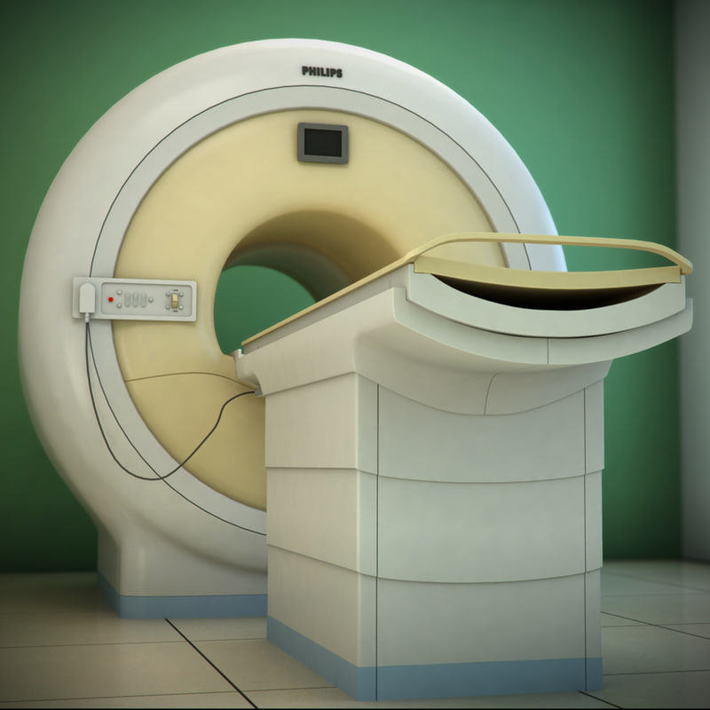 philips achieva ct scanner 3d model