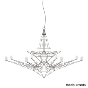 foscarini lightweight suspension lamp 3d obj