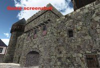 3ds max medieval city unity3d engine