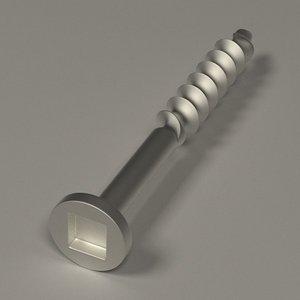 3d screw model