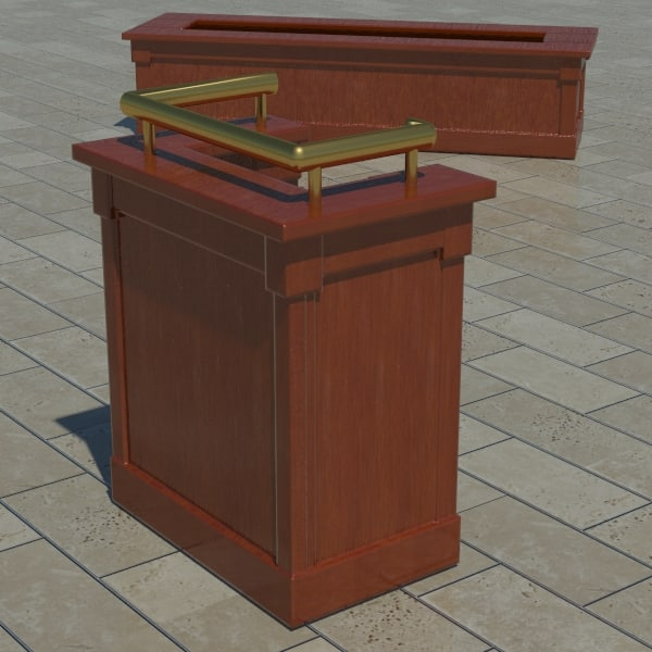 server stand planter 3d max