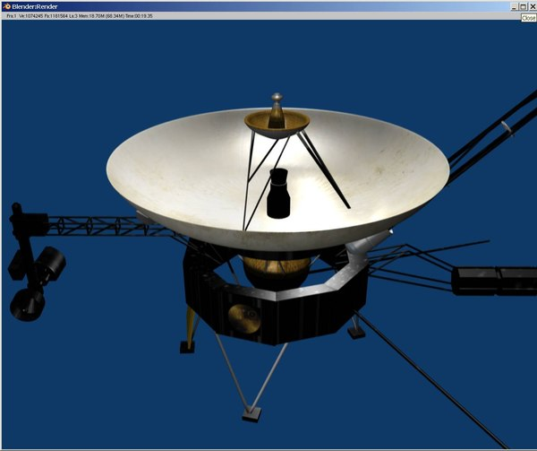 voyager probe 3d 3ds