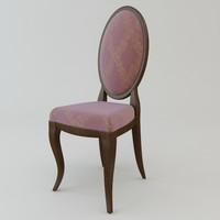 3d antique armless chair model