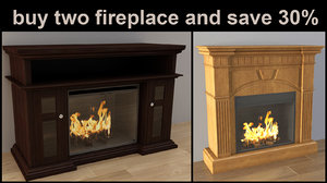 3d pack fireplace