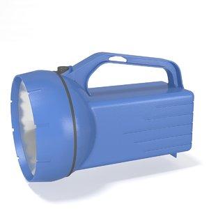 9 volt flashlight 3d model