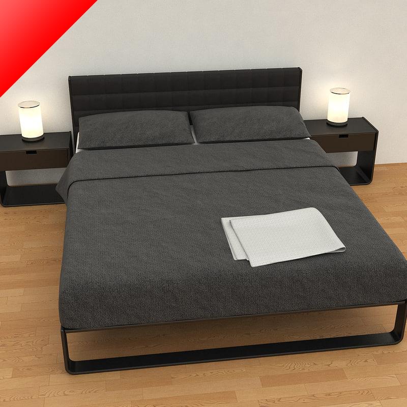 3d bed tables model