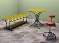 3d model table dining room