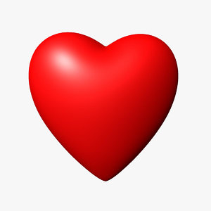 valentine heart 3d model