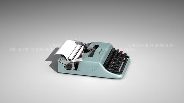 3d lettera 22 typewriter