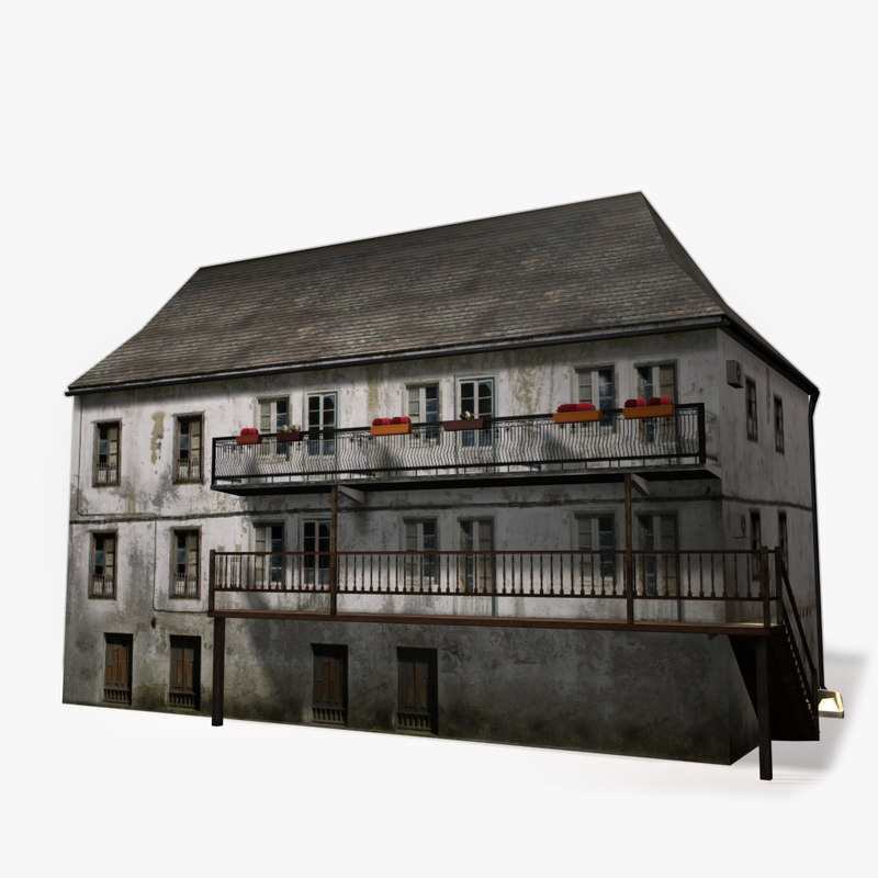 polygonal old house max