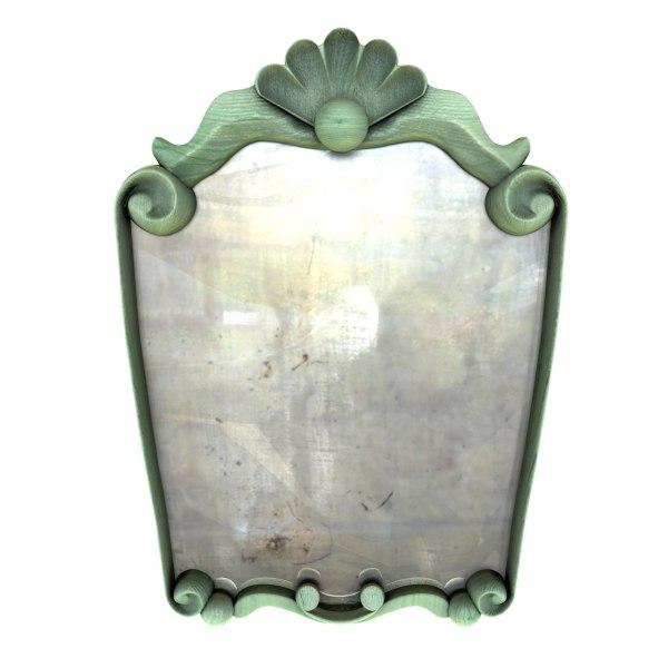 3d wooden mirror