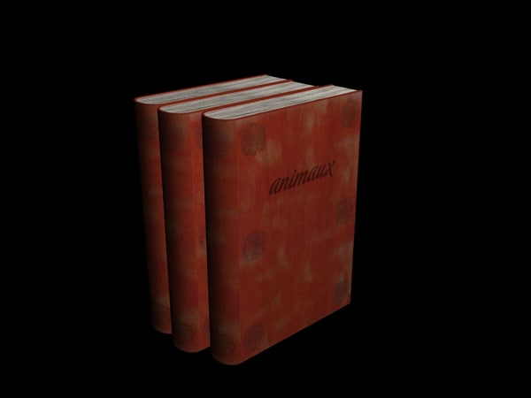 simple book page 3d model