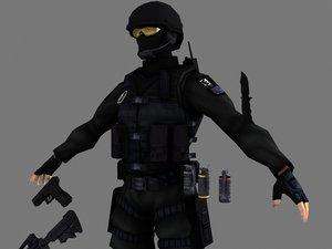 3d swat intruder package model