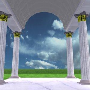 3d trajan forum model