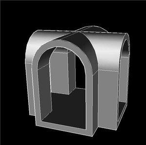3d model stl file vaulted modular