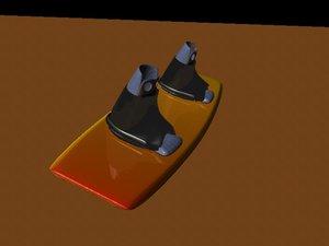 wakeboard board 3d model