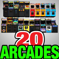Arcade Machines Low Poly Collection