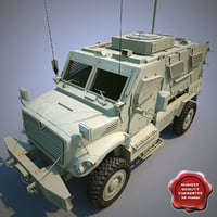 3d model maxxpro mrap armoured fighting vehicle