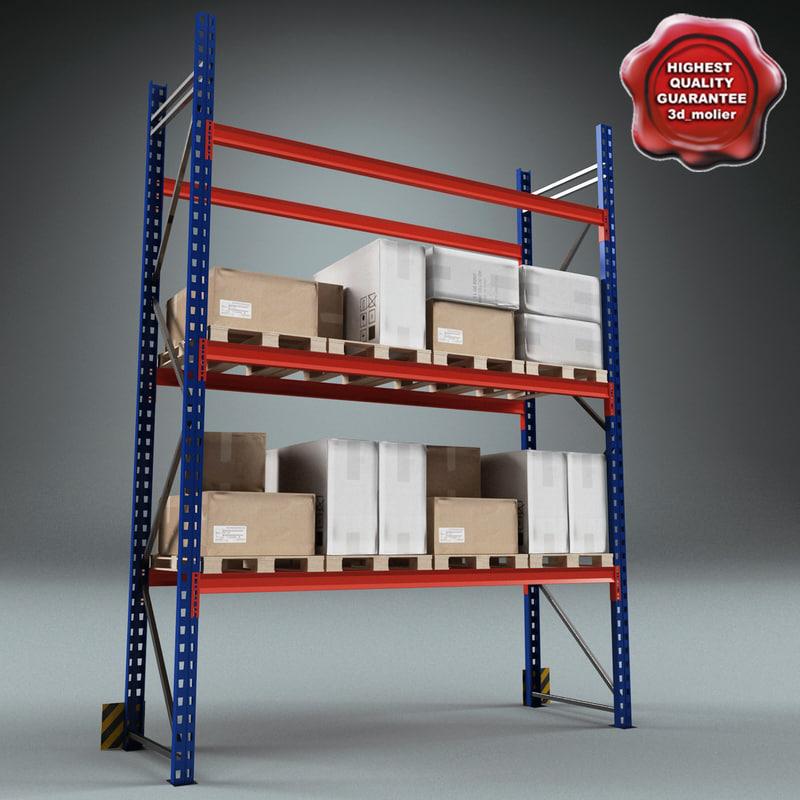 3d warehouse rack model
