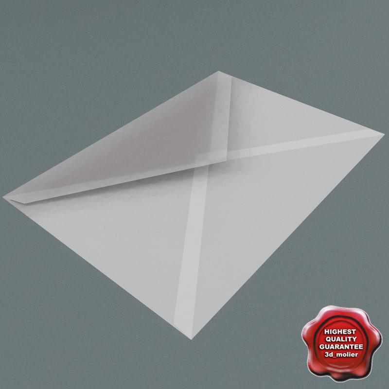 white envelope 3d 3ds