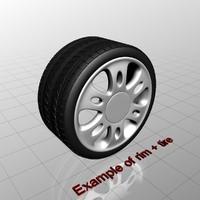 3d tire rims