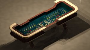 3d craps table model