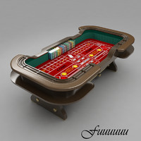 craps table 3 3d model